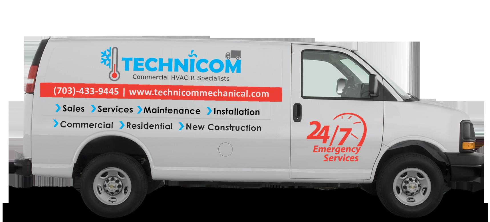 Technicom HVAC Service Van